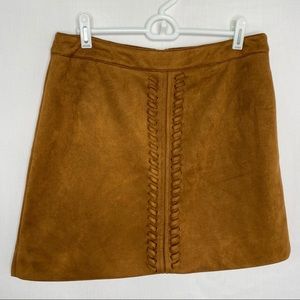 Very J brown suede mini skirt M